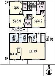 [一戸建] 愛知県名古屋市緑区有松愛宕 の賃貸【/】の間取り