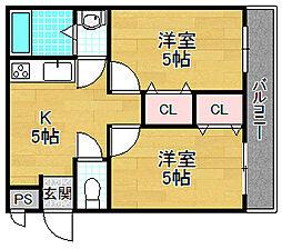 サトーピア香里園[1階]の間取り