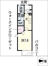 リブェールシャンブルA棟[1階]の間取り