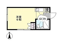 ドルチェ三田[201号室]の間取り