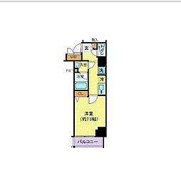 東京メトロ千代田線 赤坂駅 徒歩2分の賃貸マンション 3階1Kの間取り