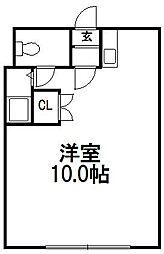 北海道札幌市豊平区福住一条2丁目の賃貸マンションの間取り