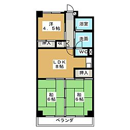 ラ・ボルト[5階]の間取り