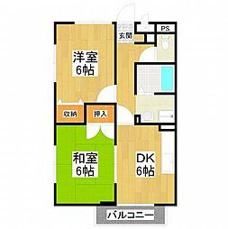 大阪府堺市東区菩提町3丁の賃貸アパートの間取り