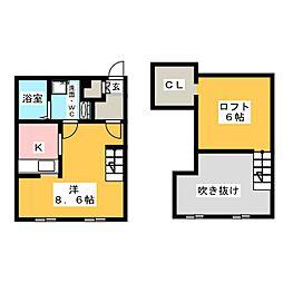 プリマグランデ須ケ口壱番館[2階]の間取り