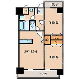Konami Village(コナミビレッジ)[202号室]の間取り