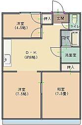 パレスマンション[402号室]の間取り