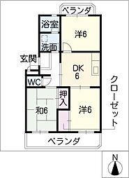 パークサイド山本[4階]の間取り