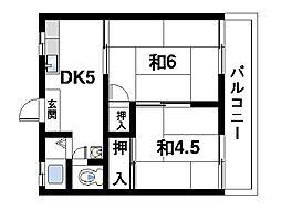 寺本ハイツA[2階]の間取り