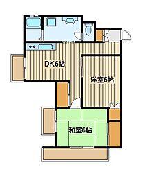 マンション見米一番館[3階]の間取り