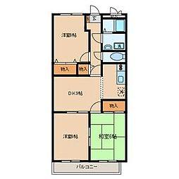 シモーヌヴィーユB棟[3階]の間取り