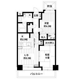 ライオンズプラザ新板橋[9階]の間取り