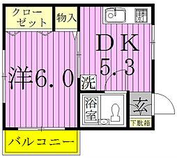 みさき荘[202号室]の間取り