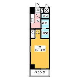ホワイトクレスト[7階]の間取り