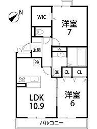 セレンディピティ矢倉[1階]の間取り