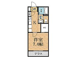千葉県市原市ちはら台南3丁目の賃貸アパートの間取り