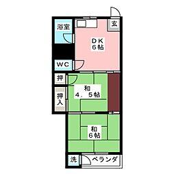 中源ビル[5階]の間取り
