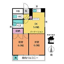 パゴダ・ワカヤマビル[2階]の間取り