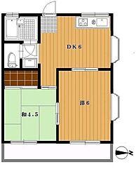 アーバンナカジマ[2階]の間取り