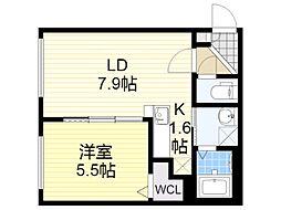 札幌市営南北線 麻生駅 徒歩4分の賃貸マンション 1階1LDKの間取り