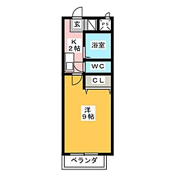 愛知県名古屋市中川区澄池町の賃貸マンションの間取り