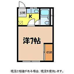 テラス前田[2階]の間取り