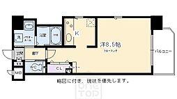 エイペックス京都東山三条[306号室]の間取り
