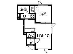 北海道札幌市東区北十一条東5丁目の賃貸アパートの間取り