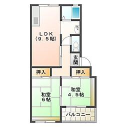 上高丸住宅D棟[1階]の間取り