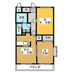 シンセアーマンション富士宮II[2階]の間取り
