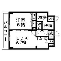 新潟県新潟市中央区礎町通5ノ町の賃貸マンションの間取り
