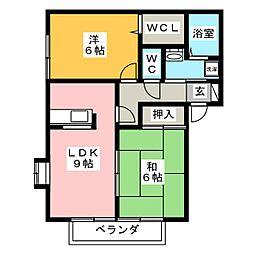 ハイツジュエイユーII A棟[2階]の間取り