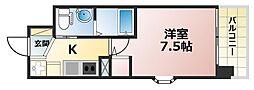 ERCity's兵庫駅[3階]の間取り