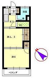 レジデンス西川口[3階]の間取り