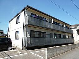 岡山県倉敷市中帯江の賃貸アパートの外観