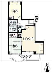 ゆきマンション[2階]の間取り