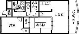 リュックスギオン[3階]の間取り
