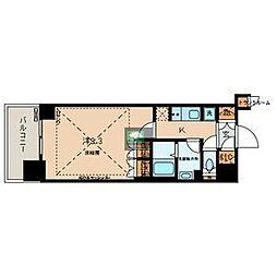 文京ガーデン・ザ・サウス 16階1Kの間取り