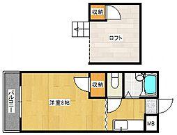 アトリウム津福本町[2階]の間取り