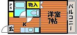 グランデュール旭川[4階]の間取り