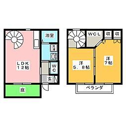 [テラスハウス] 岐阜県海津市南濃町吉田 の賃貸【/】の間取り