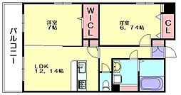 福岡県糟屋郡須惠町大字須惠の賃貸マンションの間取り