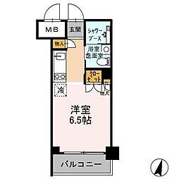 カスタリア武蔵小杉[505号室]の間取り