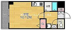 ラフィーネ友泉[2階]の間取り