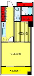 JR山手線 大塚駅 徒歩9分の賃貸マンション 5階1LDKの間取り