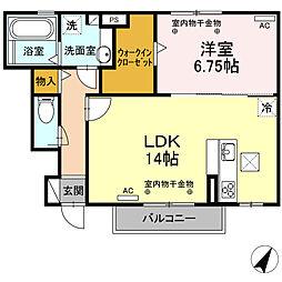 仮) D-room 川越町[101号室]の間取り