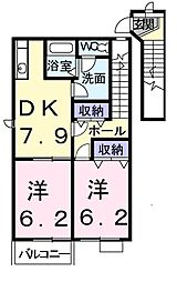 MKマンションPartV[2階]の間取り
