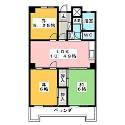 753マンション[5階]の間取り