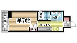 飛松高谷マンション[701号室]の間取り