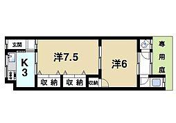 岡田貸家[1階]の間取り